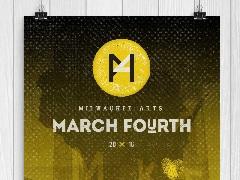 March Fourth Poster arts milwaukee poster