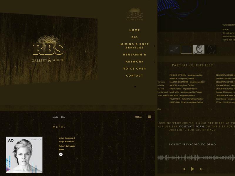 rbsgallery.com film music artwork gallery website