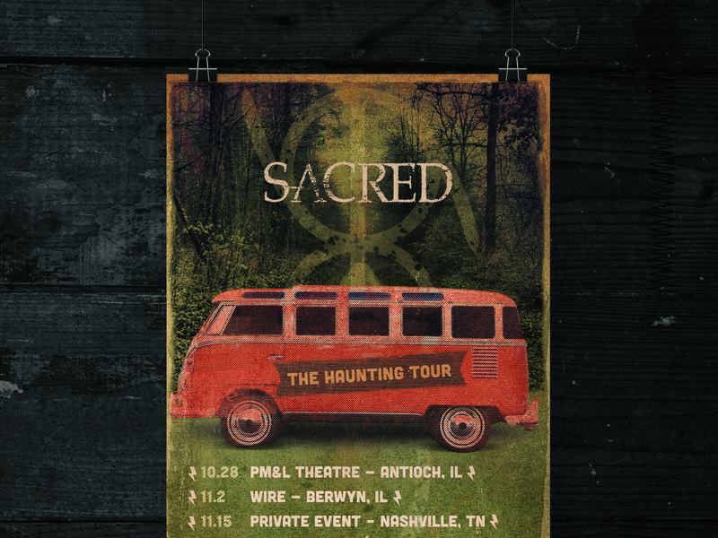 Sacred Poster tour poster bus poster
