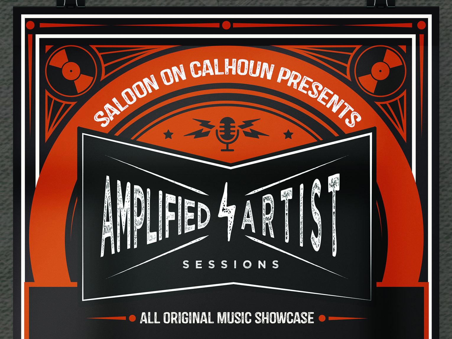 Amplified Artist Sessions Poster texture music poster