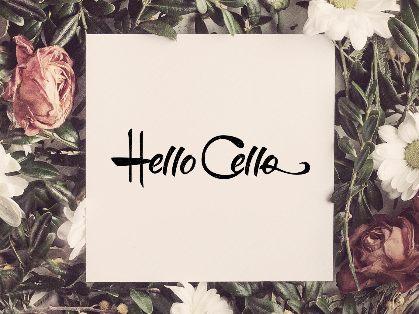 Hello Cello hello cello cello logo