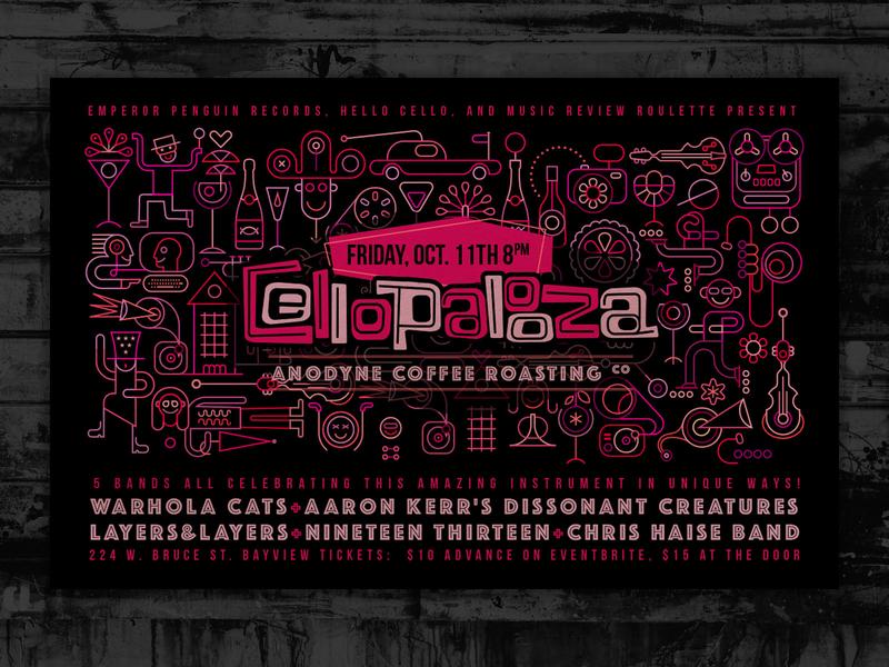 Cellopalooza Poster cello poster