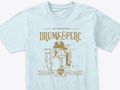Milwaukee Drums&Perc T-Shirt illustration vector design