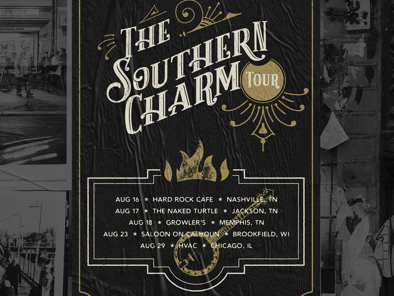 SACRED Southern Charm Tour Poster illustration textures poster design