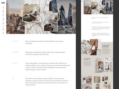 B2B Media website luxury fashion luxury fashion