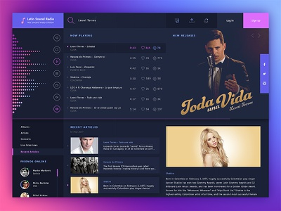 Latin Sound Radio - Free online radio station radio ux ui latin music