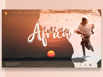 Header Style sunset kids ui africa layout header