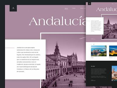 Typography exploration andalucia travel type typography