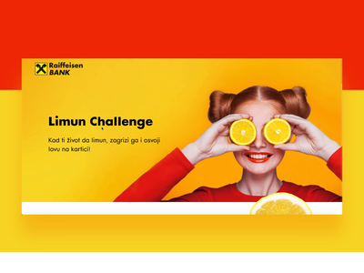Lemon Challenge for Raiffeisen Bank bank card landing page design landingpage lemons lemon