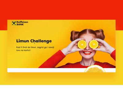 Lemon Challenge for Raiffeisen Bank bank card landing page design landingpage lemons lemon