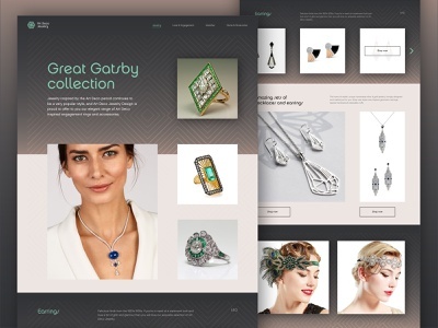 Art deco - UI challenge 02 luxury web design uidesign jewelry art deco