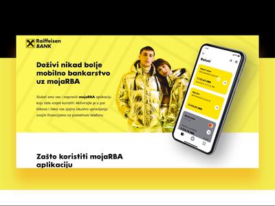 Raiffeisen - RBA MojaApp landing page bank app mobile banking app mobile banking mobile app bank