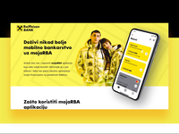 Raiffeisen - RBA MojaApp landing page