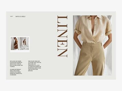 Boys&Girls landing page typography type zipl minimal concept fashion