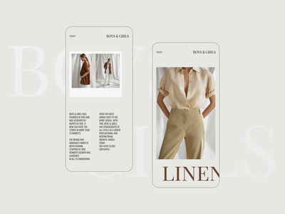 Boys&Girls -Mobile design product concept website clothing web mobile fashion app adaptive ui
