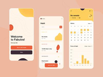 Habit Tracker calendar fabulos health books concept web ui line app habit habits