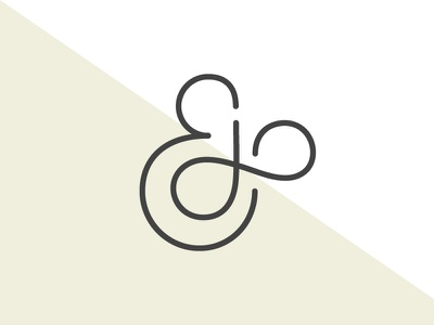 JE Logo typography icon monogram logo branding