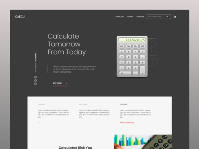 Calcu Landing Page webflow gradient desktop gray color landing page web desing