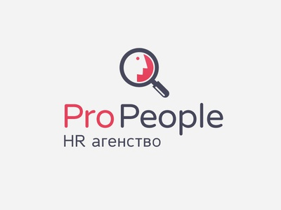 ProPeople logo hr human resources magnifier minimalistic agency people