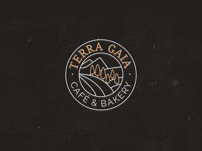 Terra gaia Logo  food nature traditon emblem tuscany bakery logo italian