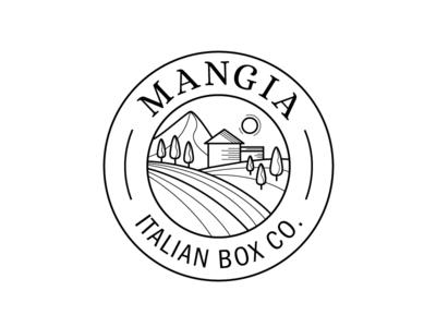 Mangia lofo traditions italy box food icon logo emblem