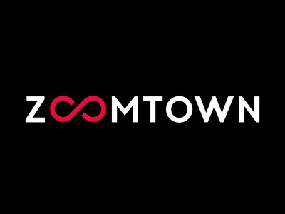 Zoomtown loop town minimalistic logo
