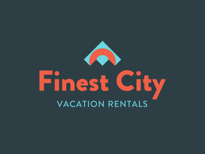 Finest City logo home vacation rental logo
