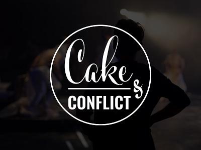 Cake & Conflict logo theatre mixed lettering minimalistic logo
