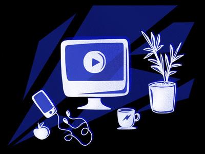 Essentials apple designer coffee stilllife iphone mac desk