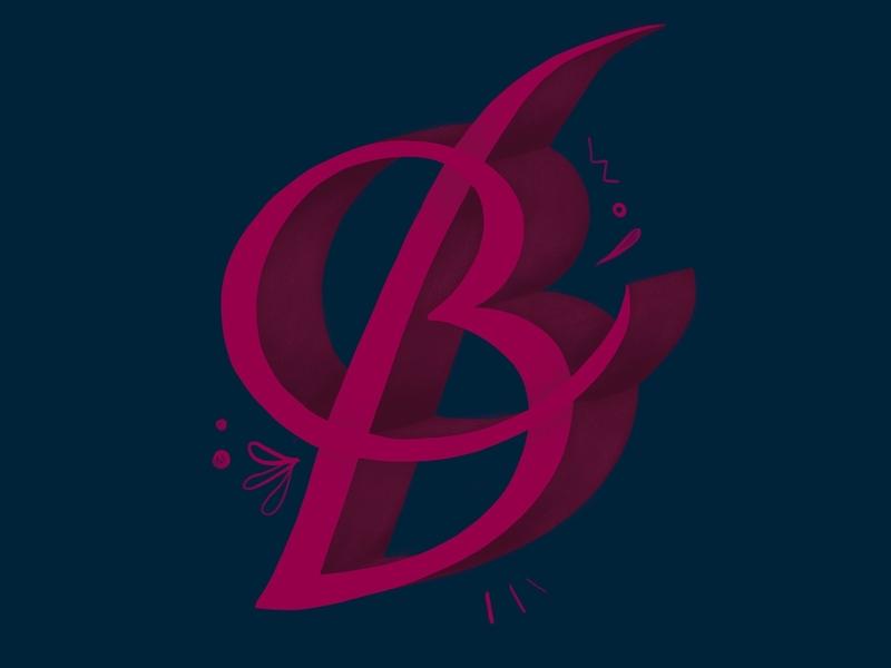 Letter B letterart duo minimalistic lettering letter b letter