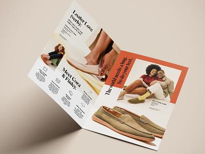 Hush Puppies Fall '21 Loafer Bi-Fold Mailer flyer mailer bi-fold typography marketing shoe design ecommerce print direct mail