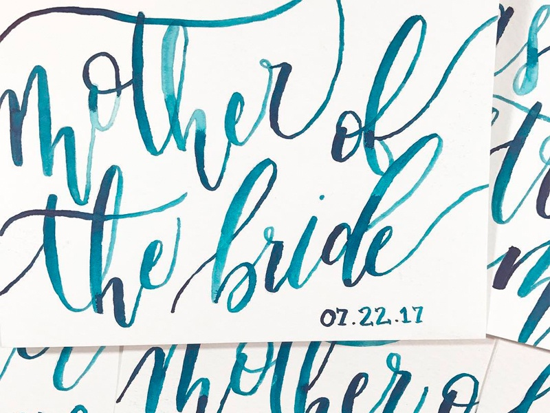 Watercolor Calligraphy Cards