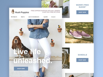 Hush Puppies Welcome Email