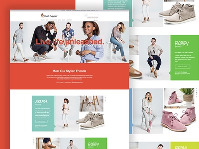 Hush Puppies Style Unleashed Landing Page
