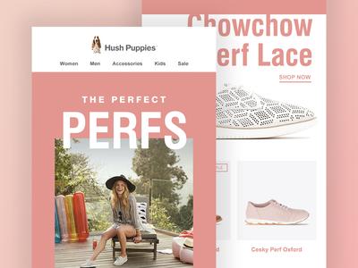 Hush Puppies 'Perfect Perfs' Email Design