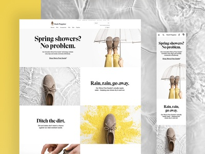 Hush Puppies Worry-Free Suede Landing Page