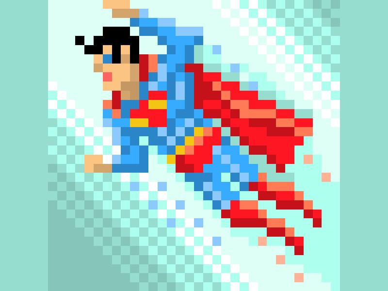 Pixel Superman By Travis Lucas On Dribbble