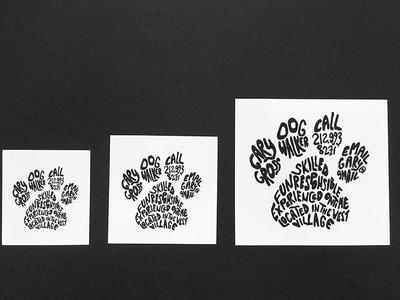 Dog walker business card by amy staropoli dribbble dog walker business card colourmoves