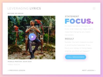 Leveraging Lyrics: Focus