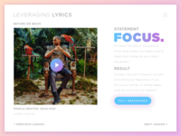Leveraging Lyrics: Focus