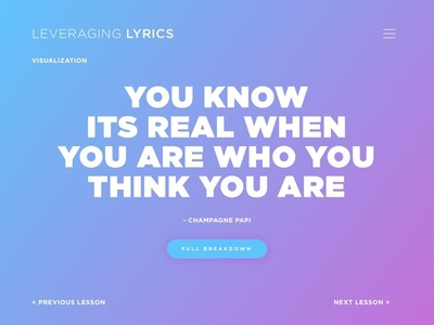 Leveraging Lyrics: Who You Think You Are