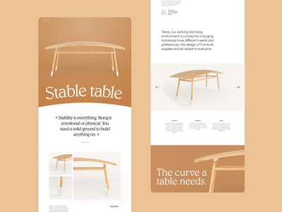 Pageant of the bizarre - Table collection eshop layout table furniture texuring modeling web design website ux ui web 3d