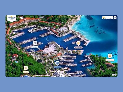 Les Embiez 2021 - Map navigation drag island interactive map webgl ux website animation ui festival 3d motion web