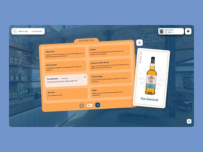 Les Embiez 2021 - Interactive Menu web motion restaurant cocktail card list bar menu rollover interaction branding motion graphics graphic design animation ui