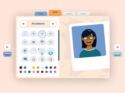 Les Embiez 2021 - Avatar builder customization maker customize character illustration portrait avatar website ux ui animation motion web