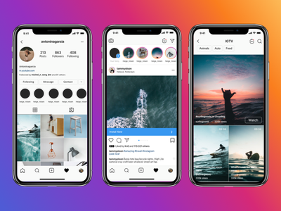 Instagram mockup 2020 free download PSD figma sketch download mockup mockup psd mock-up mockups download free mobile instagram mockup