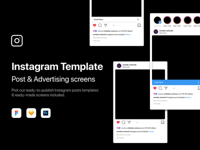 Instagram Template download mockup ui mockup psd android ios app mockups mockup mobile instagram template instagram post instagram