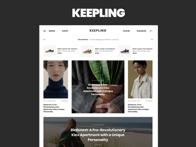KEEPLING – clean blog & magazine template article page theme for wordpress theme design blog magazine web ux ui