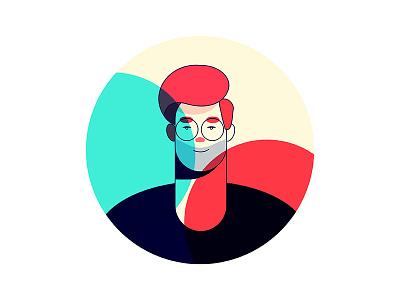 Face and Hues outline vector progress people men illustration