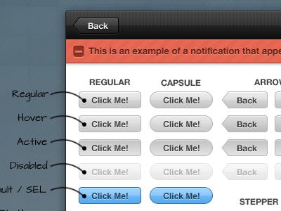 Levindge Theme - 2 sproutcore controls theme ui notification